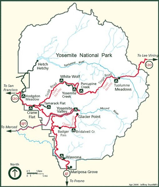 Map for visiting climbers who'd like an idea of where the more obscure campgrounds are located
