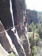 Rock Climbing Photo: JB following over Crackup, Wonderlust, etc.