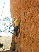 Rock Climbing Photo: Climbing in the cool shady recesses of the First C...