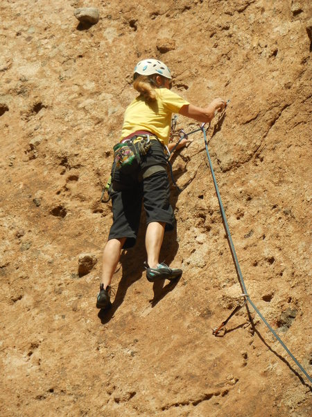 "Rock Climbing Photo: Climbing on the lower slab of ""Pick Pocket.&q..."