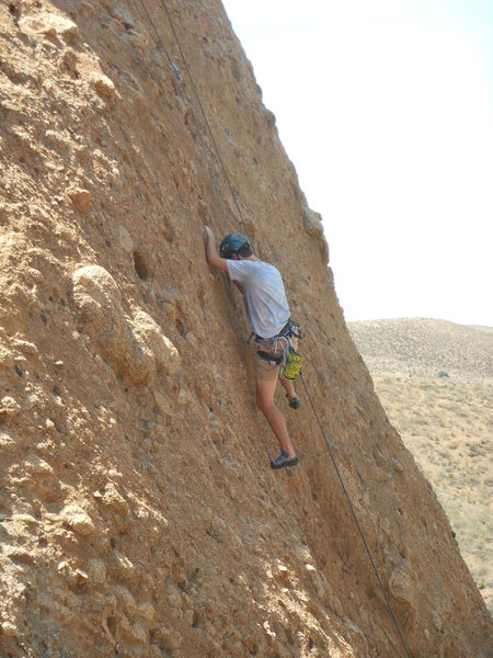 Rock Climbing Photo: Midway up P1 on the Heart Wall.