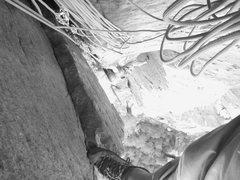 Rock Climbing Photo: T-Pain following P3