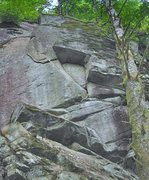 Rock Climbing Photo: Young girl Sunday blues, 5.10+ at Red Wall. (Photo...