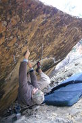 Rock Climbing Photo: Another shot of LDY on the overhang.