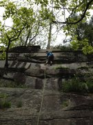 Rock Climbing Photo: Meaghan Smith hiking the onsight of Winter Classic...
