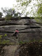 Rock Climbing Photo: Meaghan Smith starting the business on Gentle Viol...