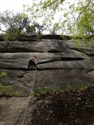 Rock Climbing Photo: Meaghan Smith on the arching corner.