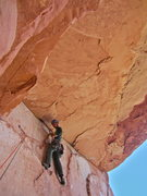 Rock Climbing Photo: Pitch 4 roof traverse