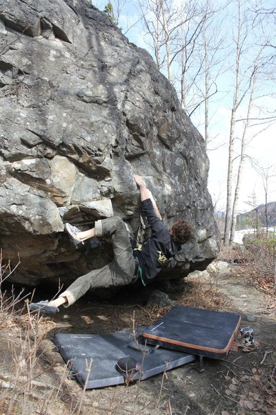 Rock Climbing Photo: Keenan Roeteger on problem number nine.