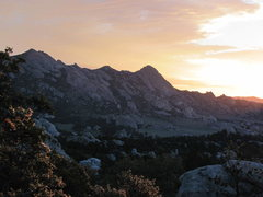Rock Climbing Photo: Dawn and morning Alpenglow at City of Rocks, 8/201...