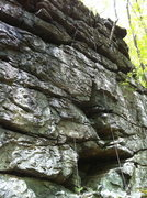 Rock Climbing Photo: Ravens roost, with cave visible