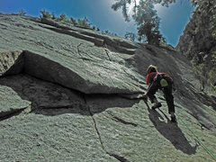 Rock Climbing Photo: Dragan the Sasquatch slayer!