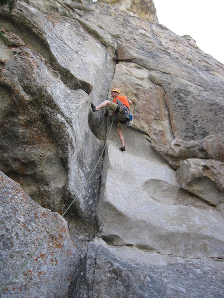 Rock Climbing Photo: The bouldery start to Night Vision.