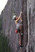 Rock Climbing Photo: B. Lignoski on Echolocation (11b).