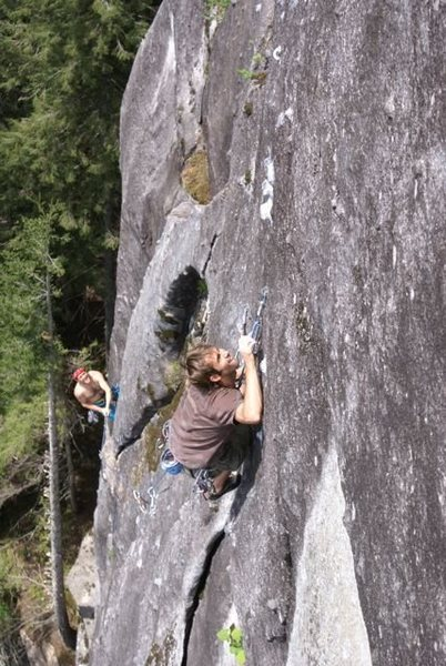 Rock Climbing Photo: Michal Rynkiewicz setting up tall for the short gu...