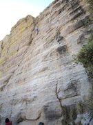 Rock Climbing Photo: Jimbo about to hit the headwall.