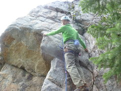 Rock Climbing Photo: At the second bolt.