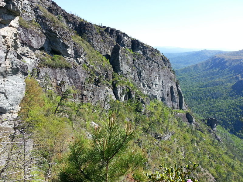 Rock Climbing Photo: NC wall as seen from the Camel