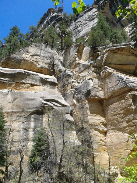 Jonathan Mosher on the second ascent of Pumphouse Primer.