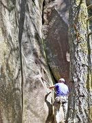 Rock Climbing Photo: Lower part of PBR (10b). (Photo from RCNW.net)