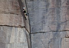 Rock Climbing Photo: Stephen King getting techy