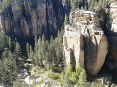 Rock Climbing Photo: Nice overview from the east rim.
