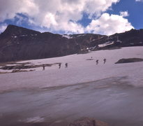 Rock Climbing Photo: Perry Mansfield students on snowfield approaching ...