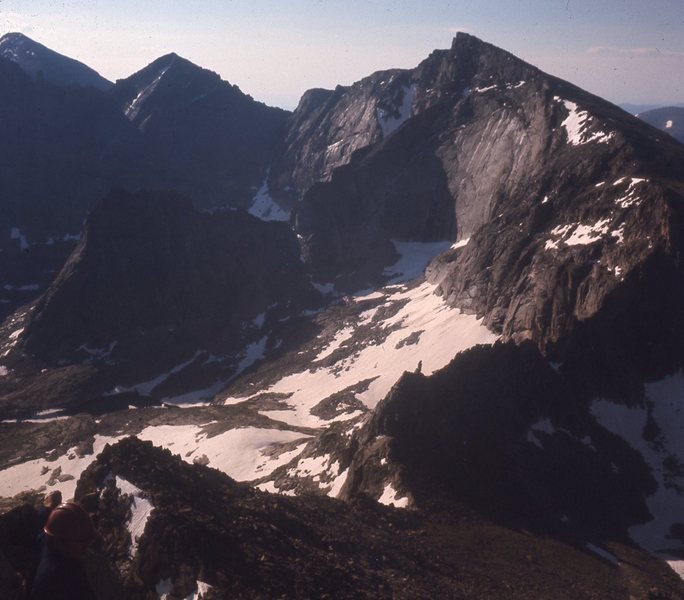 Rock Climbing Photo: Looking down SE Ridge to Stoneman Pass, Chiefshead...