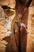 Rock Climbing Photo: Doing everything I can on the FFA to avoid the onl...