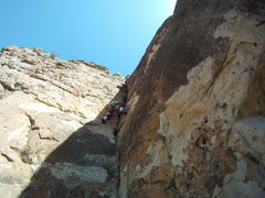 Rock Climbing Photo: Lots of fun stemming and some use of the crack is ...
