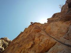 Rock Climbing Photo: At the final moves.