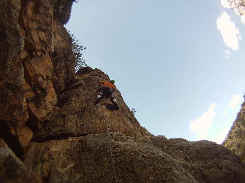 Rock Climbing Photo: Hunting for the best holds is the crux.
