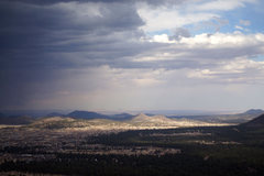 Rock Climbing Photo: View of town from the caves, storm rolling in...