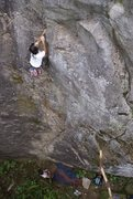 Rock Climbing Photo: Ian enjoying the first post cleaning lead. 4/13 (T...