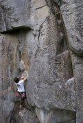 Rock Climbing Photo: Ian on the Gerberding Route (5.9+).