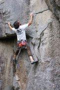 Rock Climbing Photo: Ian on the Gerberding Route (9+).