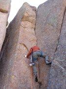 Rock Climbing Photo: Zack Attack leading it up.