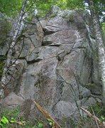 Rock Climbing Photo: Pajama People (5.9) is the corner on the left, Smi...
