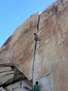 Rock Climbing Photo: Unknown climber in crux.