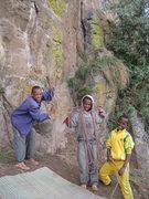 Rock Climbing Photo: Local boys, future climbers!