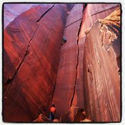 Rock Climbing Photo: Matt Pesce sending Unbelievable in great style