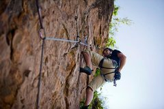 Rock Climbing Photo: Hanging out at Hyena's Secret (foto by George the ...