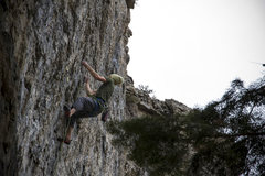 Rock Climbing Photo: Ethan about to run out of intuition on his onsight...