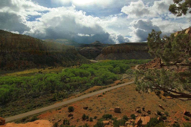 Indian Creek from Supercrack Buttress!