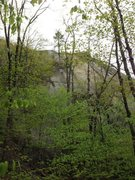 Rock Climbing Photo: Main face right of Tower Gully.  The tree of Ignor...
