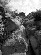 Rock Climbing Photo: Pitch three- slightly better than it looks... mayb...