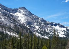 Rock Climbing Photo: Snowy Tenaya Peak May 11, 2013 -- treacherous desc...