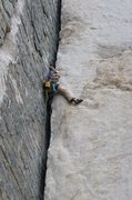 Rock Climbing Photo: Nice stemming on Pratt's Crack!
