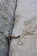Rock Climbing Photo: More stemming on Pratt's Crack!