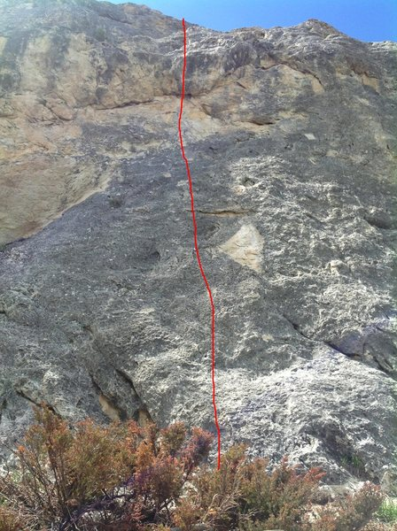 Rock Climbing Photo: My memory of this route is vague. I can not actual...